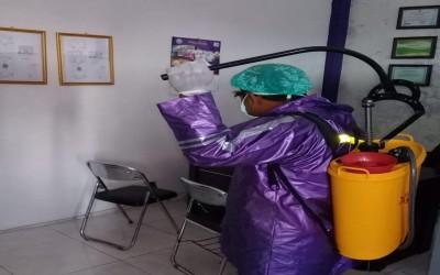 Kampus Ungu, Cegah Penyebaran Covid-19, Kampus Ungu Lakukan Penyemprotan Disinfektan Yang Ke 53 Kali